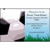 Soccer Goal  Personalized Invitations