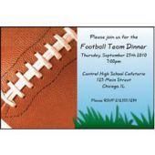Football Fan Personalized Invitations