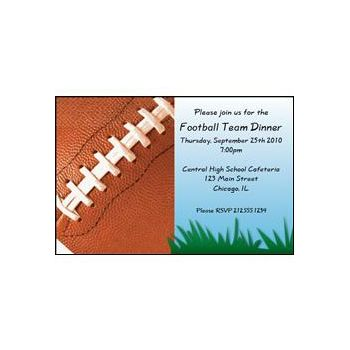 Football Fan Personalized Invitations