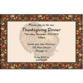 Autumn Turkey Personalized Invitations