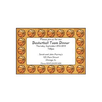 Basketball Fan Personalized Invitations