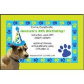 Pups Paw Prints Personalized Invitations
