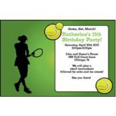 Tennis Ladies  Personalized Invitations