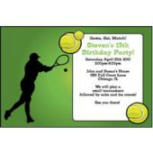 Tennis Match Personalized Invitations