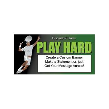 TENNIS RULES CUSTOM BANNER (Variety of Sizes)