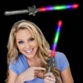 "Flashing Multi-Color LED Star 16"" Wand"