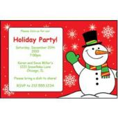 Snowman Holiday Personalized Invitations