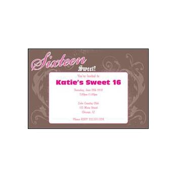 Sassy Sweet Sixteen Personalized Invitations