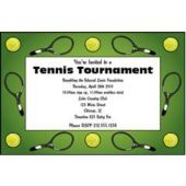 Tennis Court Customized Invitations