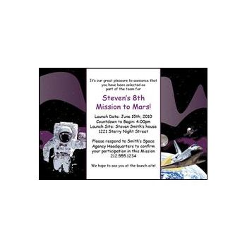 Space Odyssey Personalized Invitations