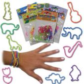 Shaped Animal Bracelets - 12 Pack