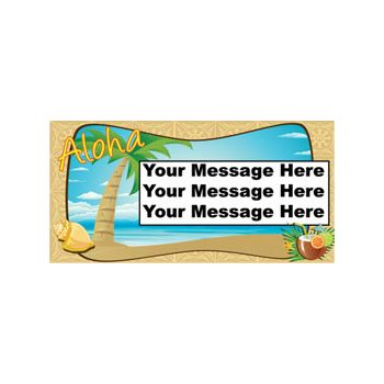 ALOHA TROPICAL LUAU CUSTOM BANNER (Variety of Sizes)
