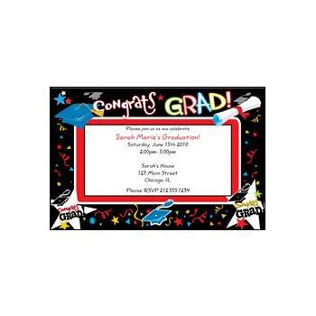 Congratulations Graduate Personalized Invitations