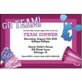 SomeThing To Cheer Personalized Invitations