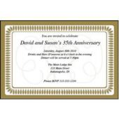 Wedding Elegance Personalized Invitations