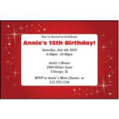 Sparkling Red Personalized Invitations
