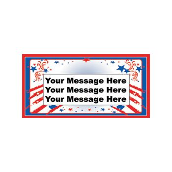 PATRIOTIC STARS & STRIPES CUSTOM BANNER (Variety of Sizes)
