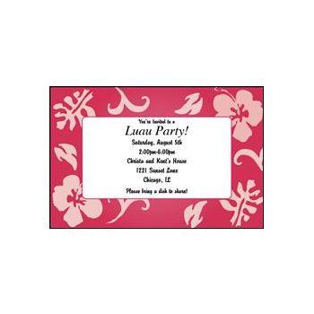 Pink Bahama Breeze Custom Invitations