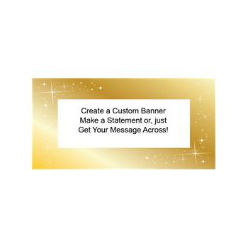 SPARKLING GOLD CUSTOM BANNER (Variety of Sizes)