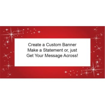 SPARTKLING RED CUSTOM BANNER (Variety of Sizes)