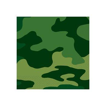 Camouflage Beverage Napkins