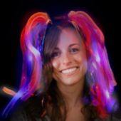 Red, White, And Blue Diva Dreads LED Headband - 14 Inch