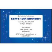 Sparkling Blue  Personalized Invitations