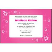 Mitzvah Pink Sparkle  Personalized Invitations