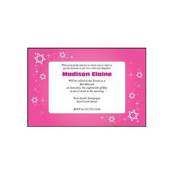 Bat Mitzvah Sparkle Pink