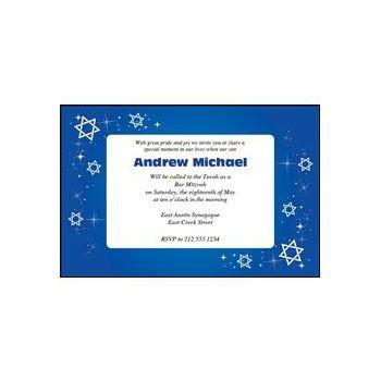 Bar Mitzvah Blue Sparkle