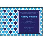 Bar Mitzvah Blue Personalized Invitations