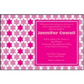 Bat Mitzvah Pink Personalized Invitations