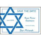 Blue Star of David Personalized Invitations