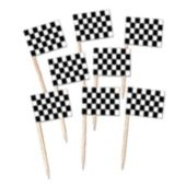 Checkered Flag Garnish Picks-50 Per Unit