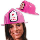 Pink Firefighter Hats - 12 Pack