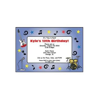 Rock Star Band Personalized Invitations