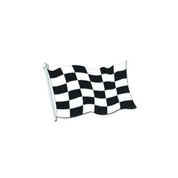 CHECKERED FLAG CUTOUT