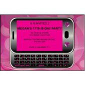 Send A Text In Pink Personalized Invitations