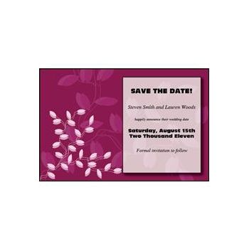 Shades of Pink Personalized Invitations