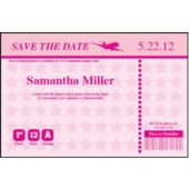 Pink Boarding Pass Save The Date Cards