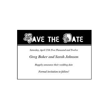 Save Date Ornate