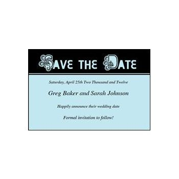 Save Date Ornate Blue