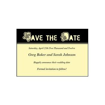 Save Date Ornate Yellow