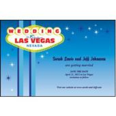 Wedding In Vegas Personalized Invitations