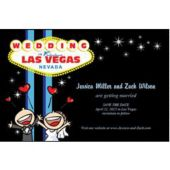 Vegas Wedding Personalized Invitations