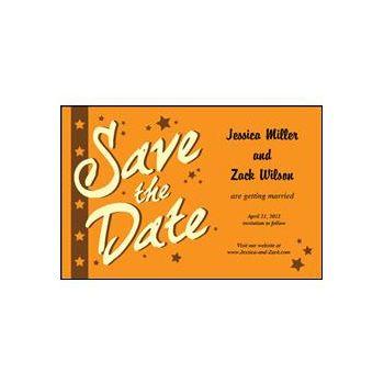 Save the Date - Orange Stars