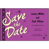 Purple Stars Save The Date