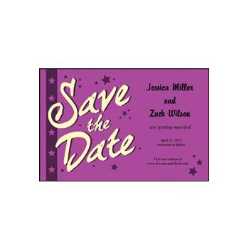 Save the Date - Purple Stars