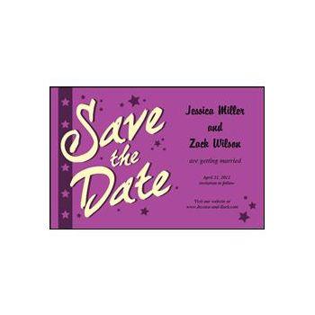 Save the Date - Purple Stars