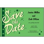 Green Stars Save The Date